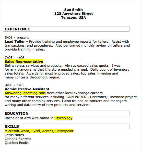 retail resume samples examples format template sales associate