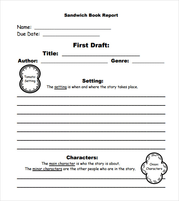 10 book report templates free samples examples format sample sandwich book report template maxwellsz