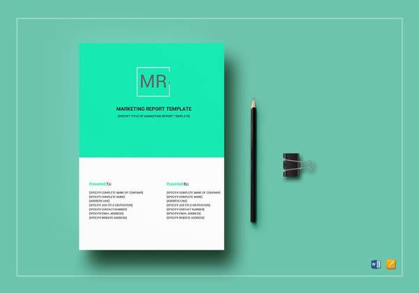 simple marketing report template