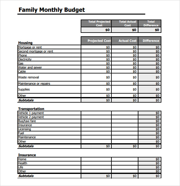 simple budget template 9 free samples examples format sample