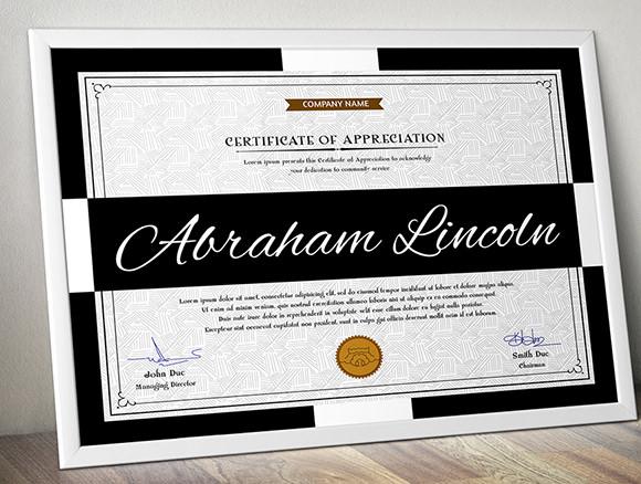 simple multipurpose certificate