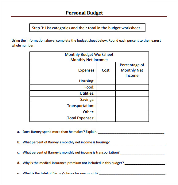 personal budget essay Use this personal budget template to stay on track and answer this crucial money question: can i afford it advice on living within your budget.