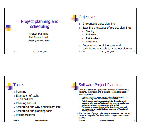 Simple Project Plan Example - Template