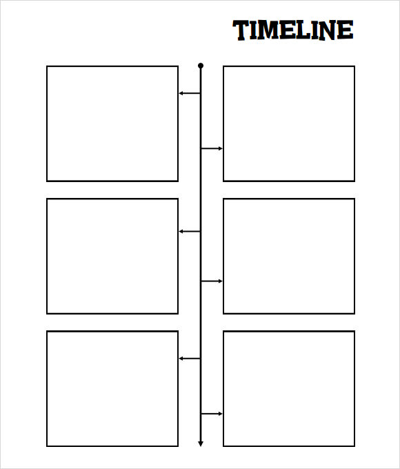 simple blank timeline template