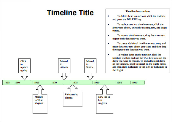 word timeline templates timeline for word - Funf.pandroid.co