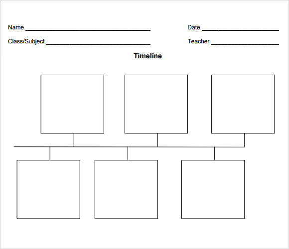 Simple Blank Timeline Template - Free simple project timeline template excel