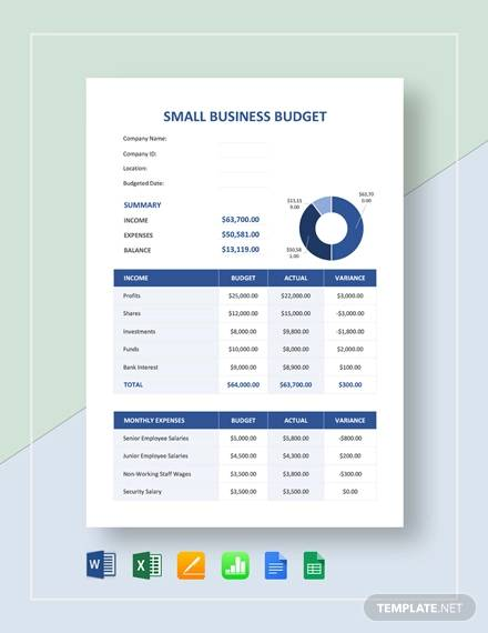 small business budget template1