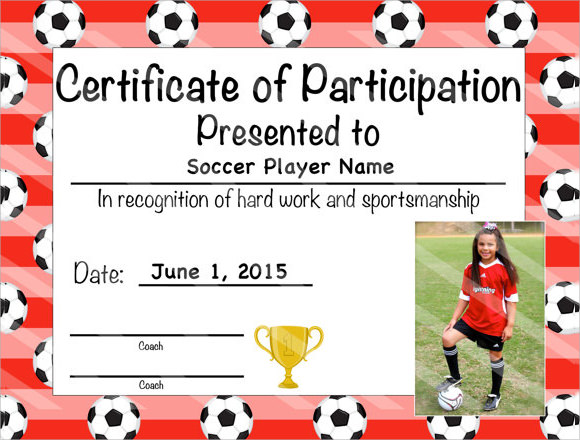 soccer certificate templates - 26 sample certificate of completion templates sample