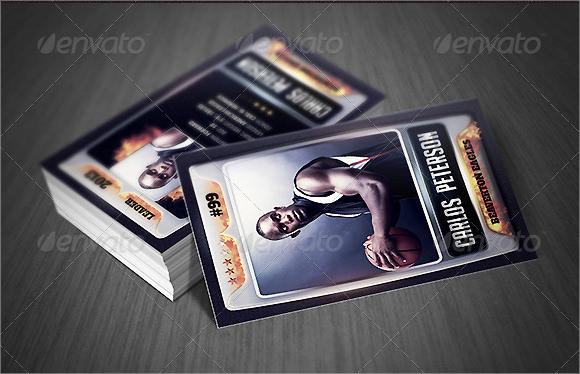 sport trading card template