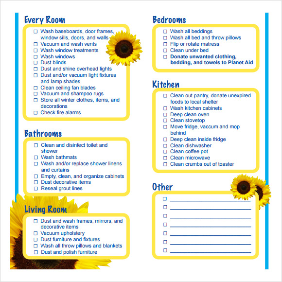 spring cleaning checklist real simple