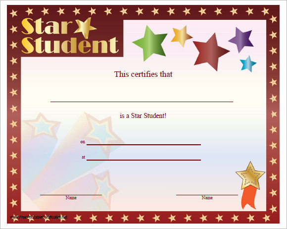 sample certificate templates for kids