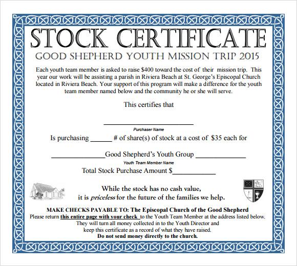 pdf stock certificate template