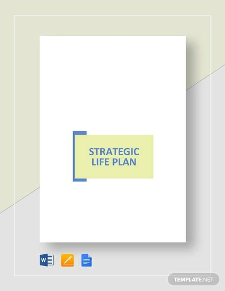 strategic life plan template