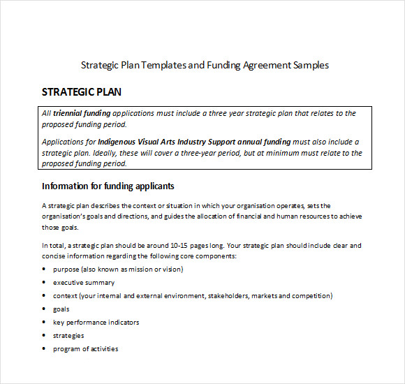 11 strategic plan templates free samples examples for Human resources strategic planning template