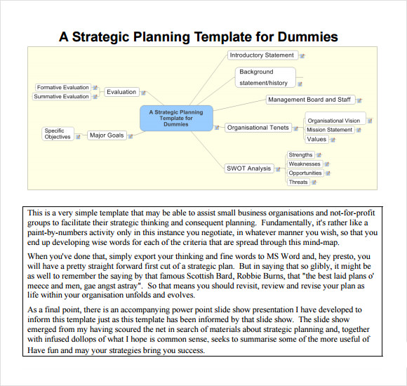Sample Strategic Plan Template 11 Free Documents In Pdf