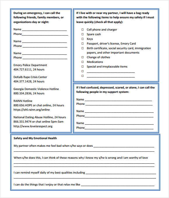 Sample Safety Plan Template - 10+ Free Samples, Examples, Format