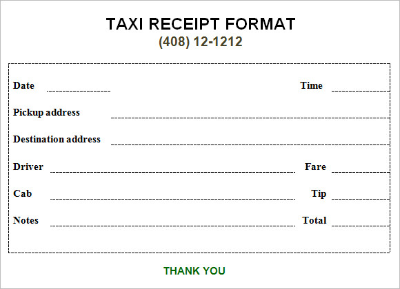 10 Simple Receipt Templates  Free Samples Examples