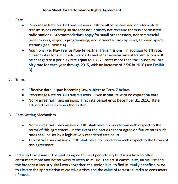 acquisition term sheet template 7 sample term sheets sample templates