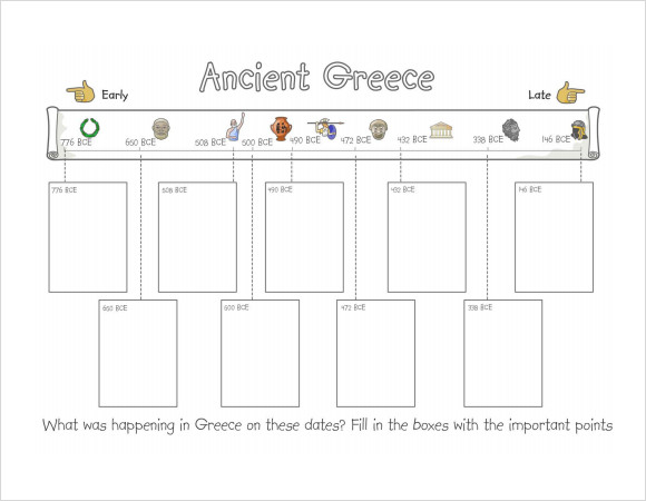 timeline template for kids