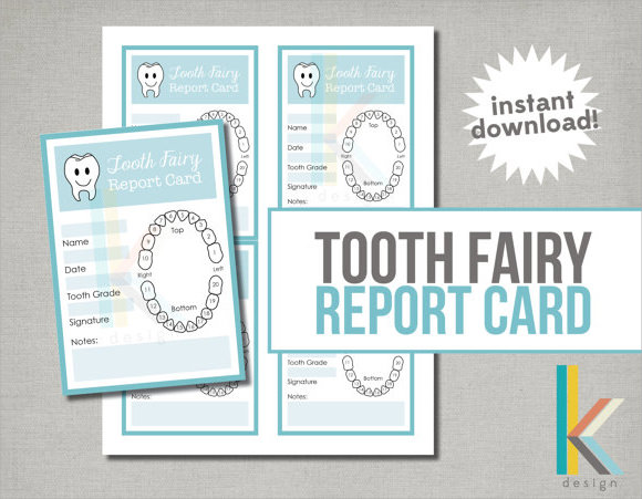 7 report card template free samples examples formats tooth fairy report card template pronofoot35fo Choice Image