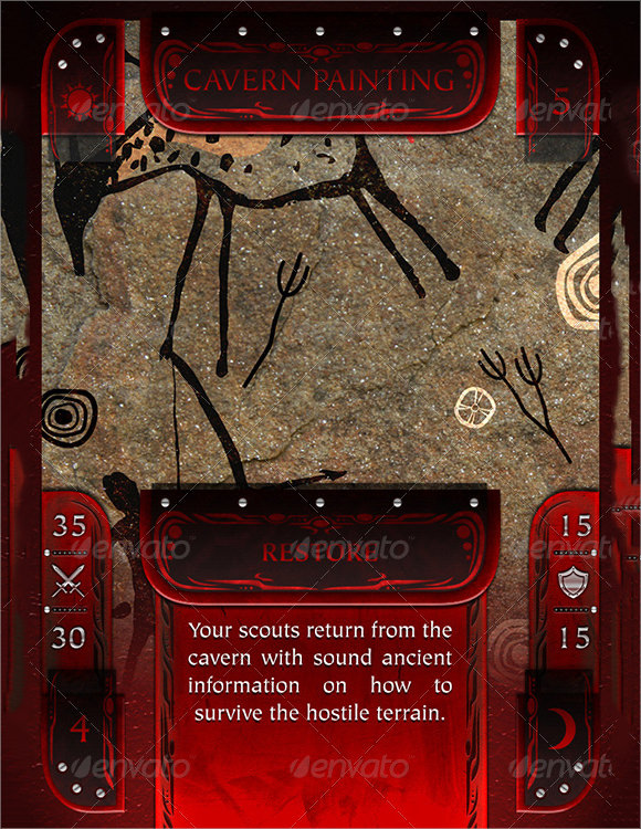 trading card game template .