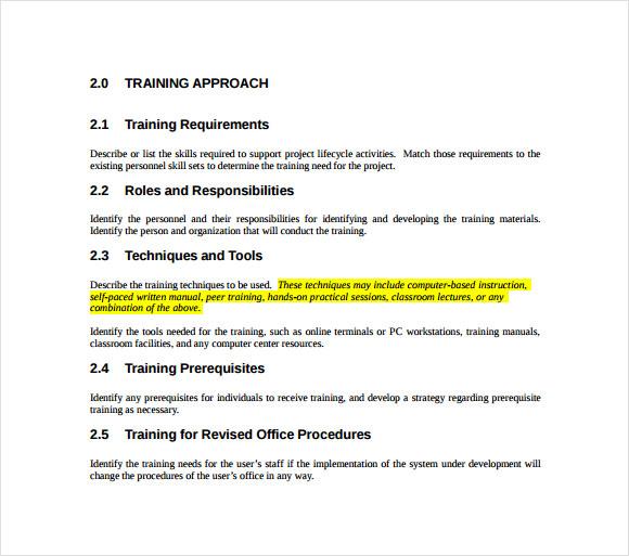 sample training proposal template .
