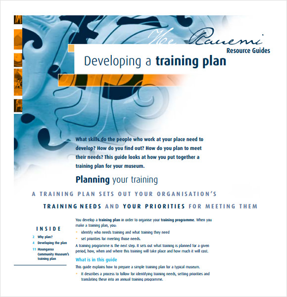 training plan template pdf 5