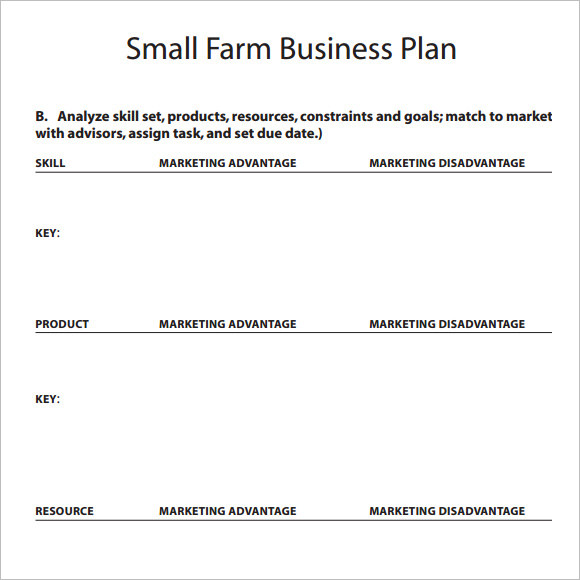 Sample Small Business Plan   Example Format