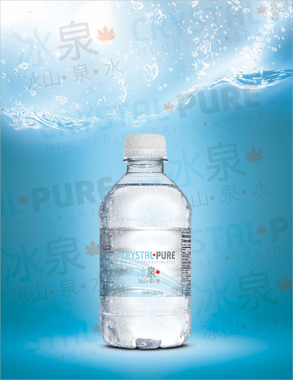 8 water bottle label templates  u2013 free samples   examples  u0026 format