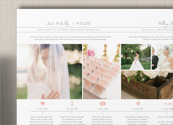Sample Wedding Timeline Templates to Download for Free