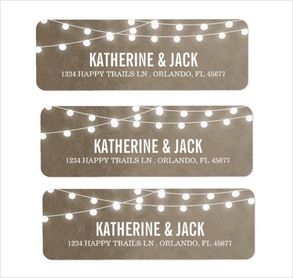 Wonderful Wedding Return Address Label Template