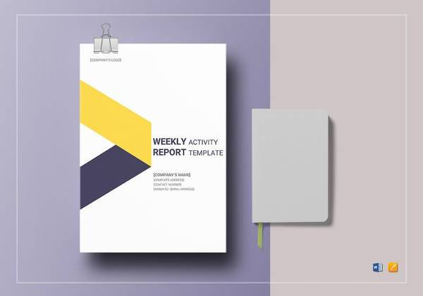 weekly activity report template to edit
