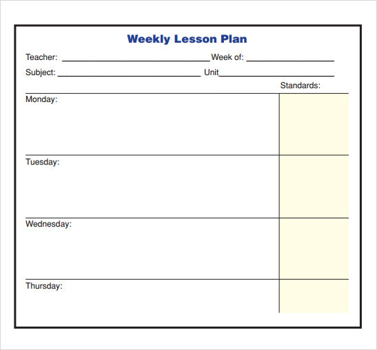 Lesson Plan Template - 9+ Free Samples , Examples , Format   Sample ...