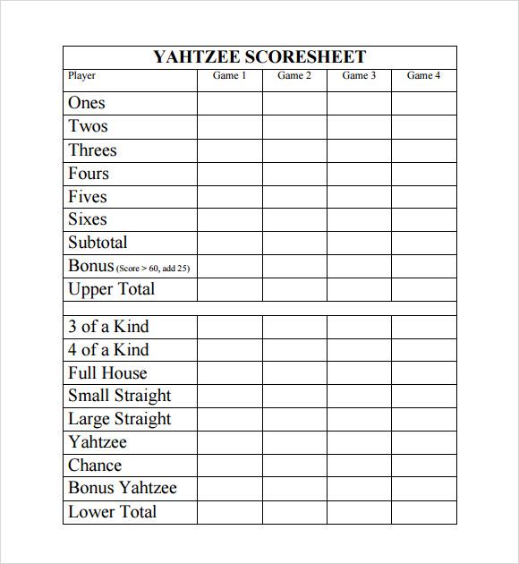 score sheet template excel .