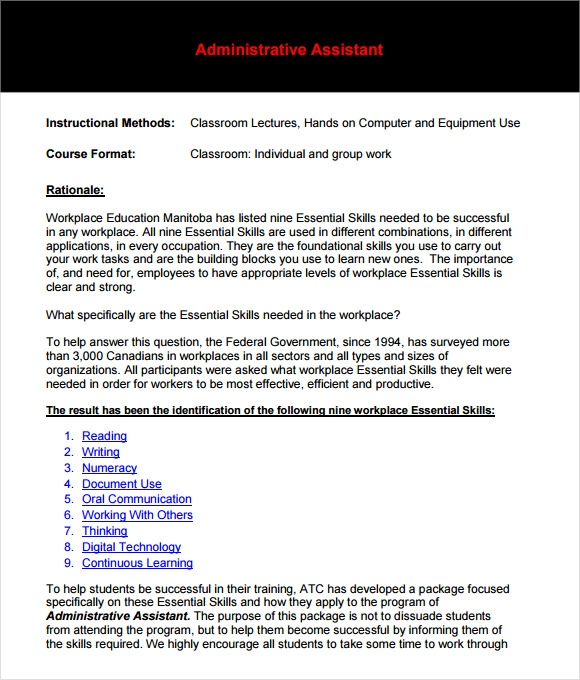 Administrative Assistant Resume – 8+ Free Samples , Examples ...