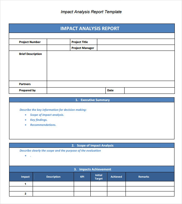 Sample Analysis Report Template 9 Free Document in PDF