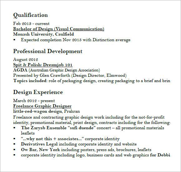 art design graphic resume pdf1