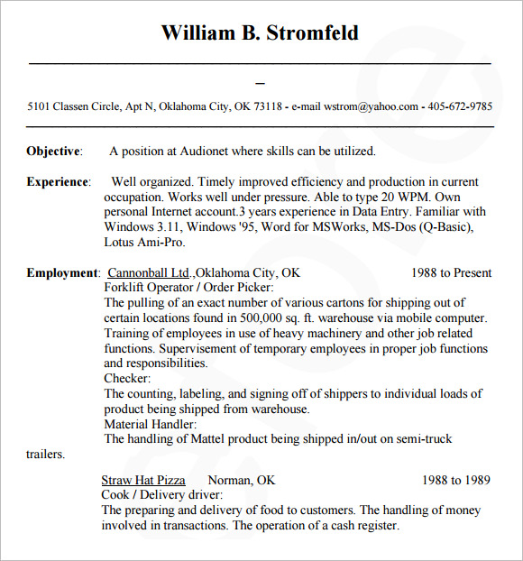 Sample Database Administrator Resume   Documents In Word Pdf