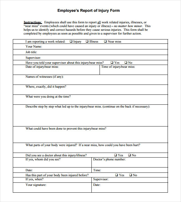 serious incident report template - 17 sample incident reports sample templates