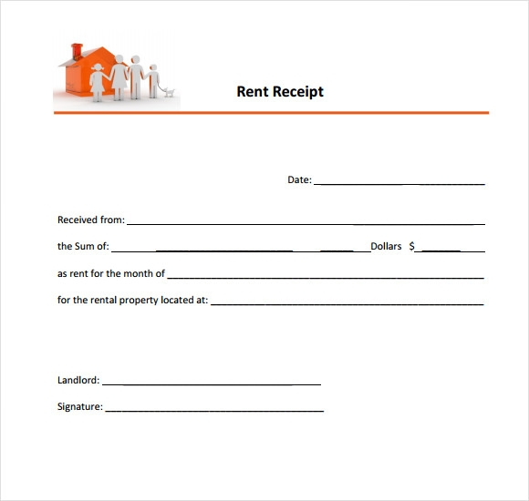 rental receipt example printable rent receipt template  blank rent receipt template