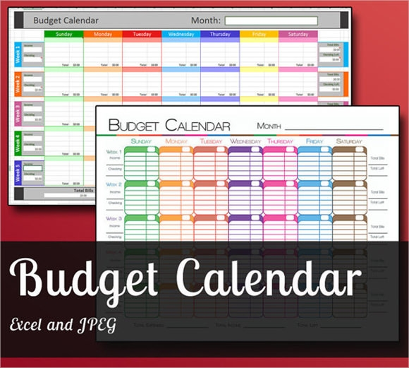 Budget Calendar Template     8  Free Samples Examples Format dn8OTHGq