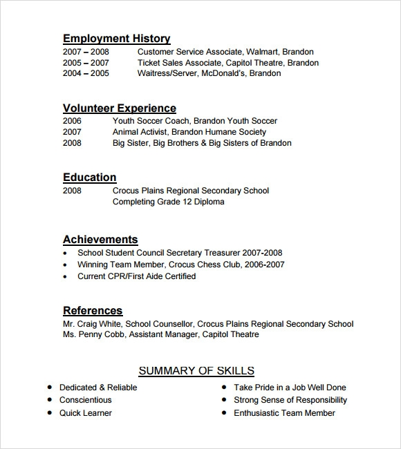 free 9  cashier resume templates in free samples  examples  format
