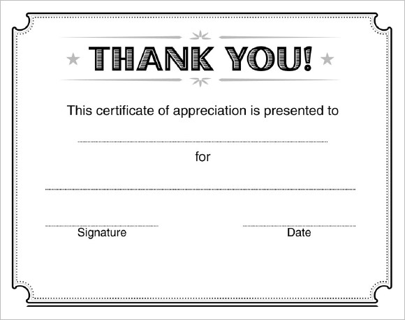 9 Certificate of Appreciation Templates Free Samples Examples – Certificates Free Download Free Printable