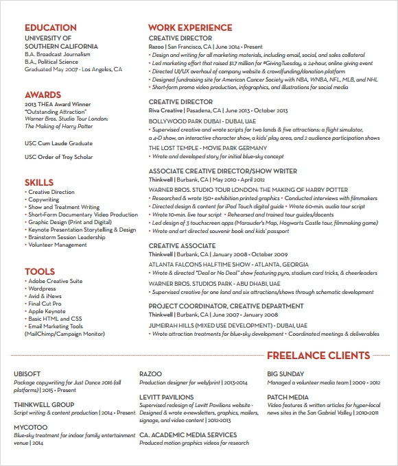 creative resume 7 free samples examples format