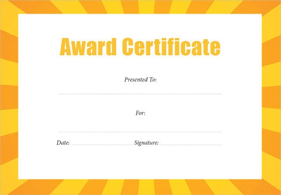 10+ Award Certificate Templates – Free Examples , Samples & Format ...