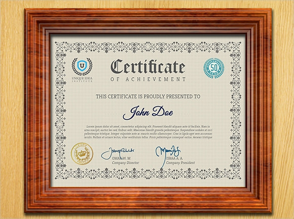 12  certificate of achievement template  u2013 sample word  psd