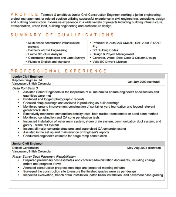 Entry Level Civil Engineer Resumes. Ellie Vargo Master Resume Writer And  Executive Coach Entry Level . Entry Level Civil Engineer Resumes