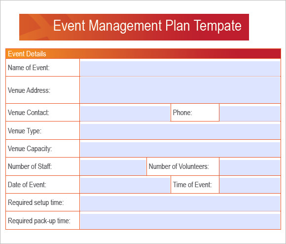 Event Plan Template Sample Event Schedule Planner Template Sample