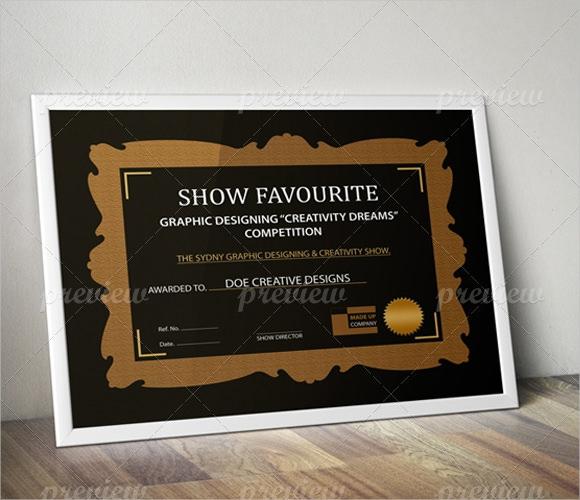 Sample Award Certificate Template 9 Samples Examples Format – Example of Award Certificate