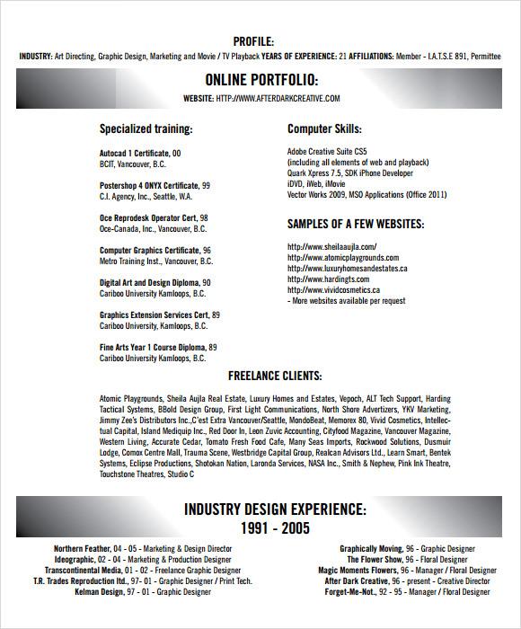 example of creative resume